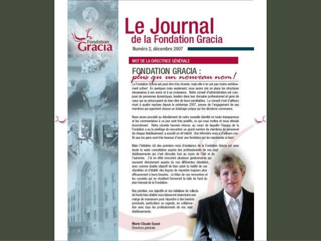 Journal de la Fondation Gracia - Numéro 2