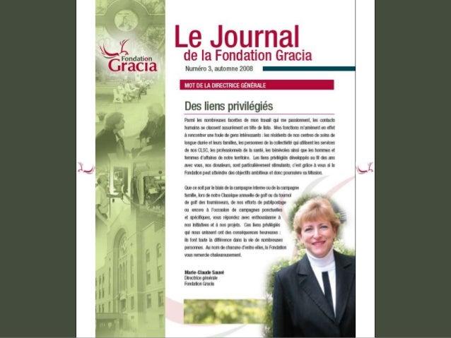 Journal de la Fondation Gracia - Numéro 3