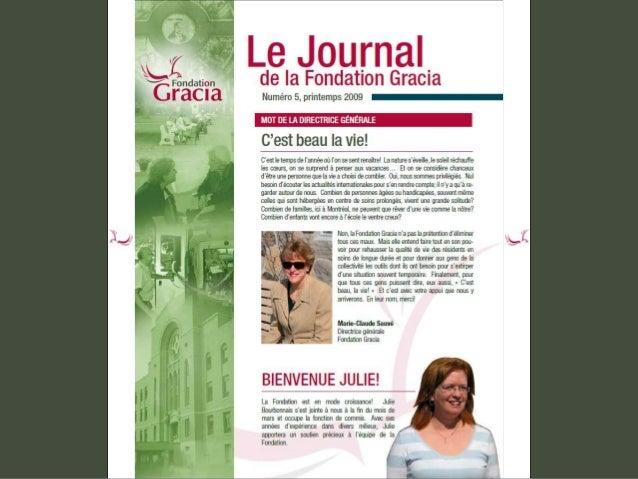 Journal de la Fondation Gracia - Numéro 5