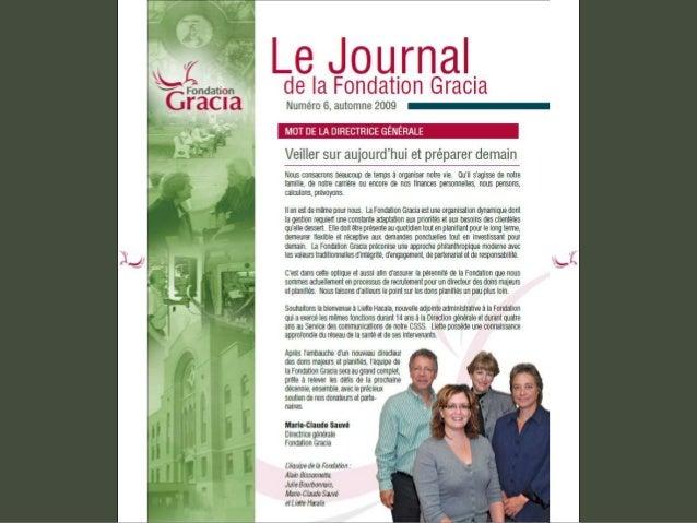 Journal de la Fondation Gracia - Numéro 6