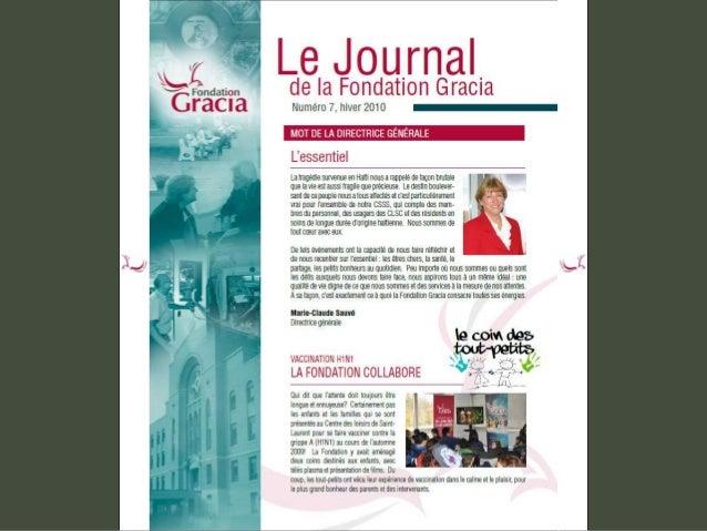 Journal de la Fondation Gracia - Numéro 7