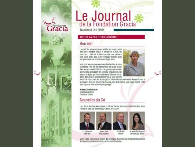 Journal de la Fondation Gracia - Numéro 8