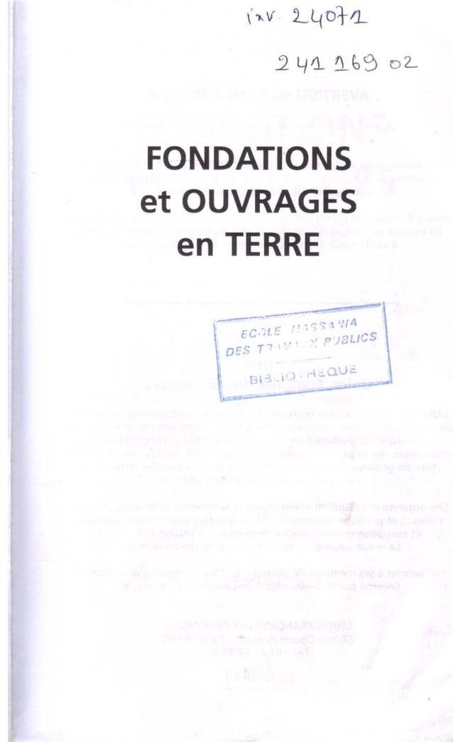 Fondation et ouvrages en terre