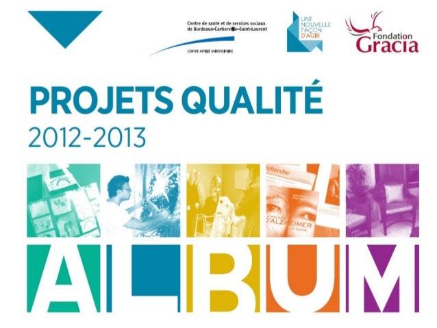Projets qualité 2012
