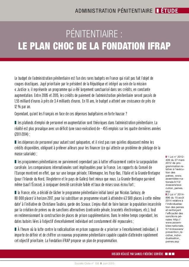 Pénitentiaire, le plan choc de la Fondation iFRAP Slide 2