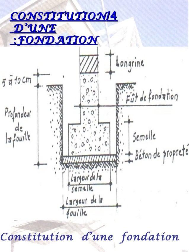Fondation superficielle for Profondeur fondation garage
