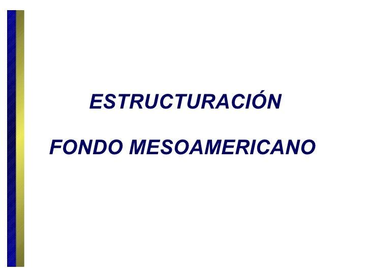 ESTRUCTURACIÓN FONDO MESOAMERICANO