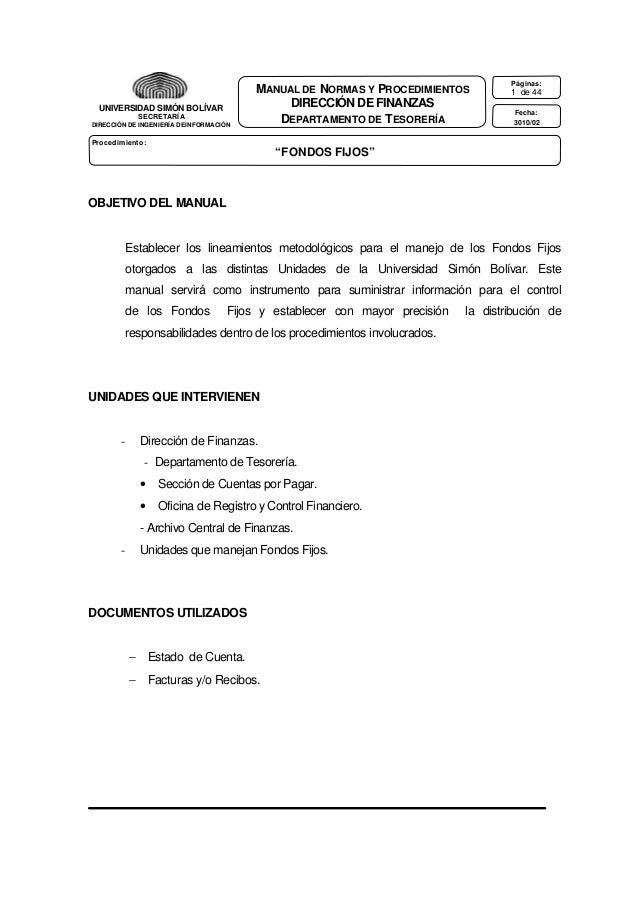 UNIVERSIDAD SIMÓN BOLÍVAR SECRETARÍA DIRECCIÓN DE INGENIERÍA DE INFORMACIÓN  MANUAL DE NORMAS Y PROCEDIMIENTOS DIRECCIÓN D...