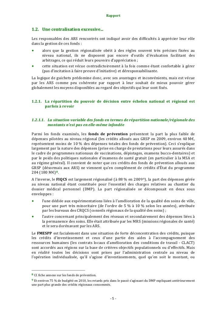 Rapport                                                                   1.2.2. L'actuel fléchage national des créd...
