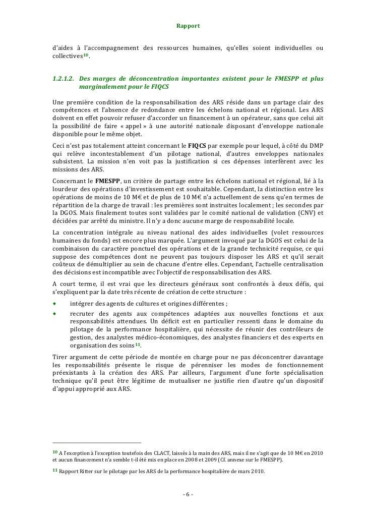 Rapport                                                     1.2.3.1. Une fongibilité globale de tous les financeme...