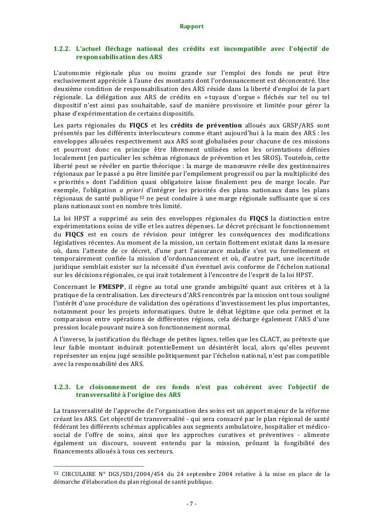 Rapport                                                                   ConcernantlesactionsdepréventiondesGRSP/...