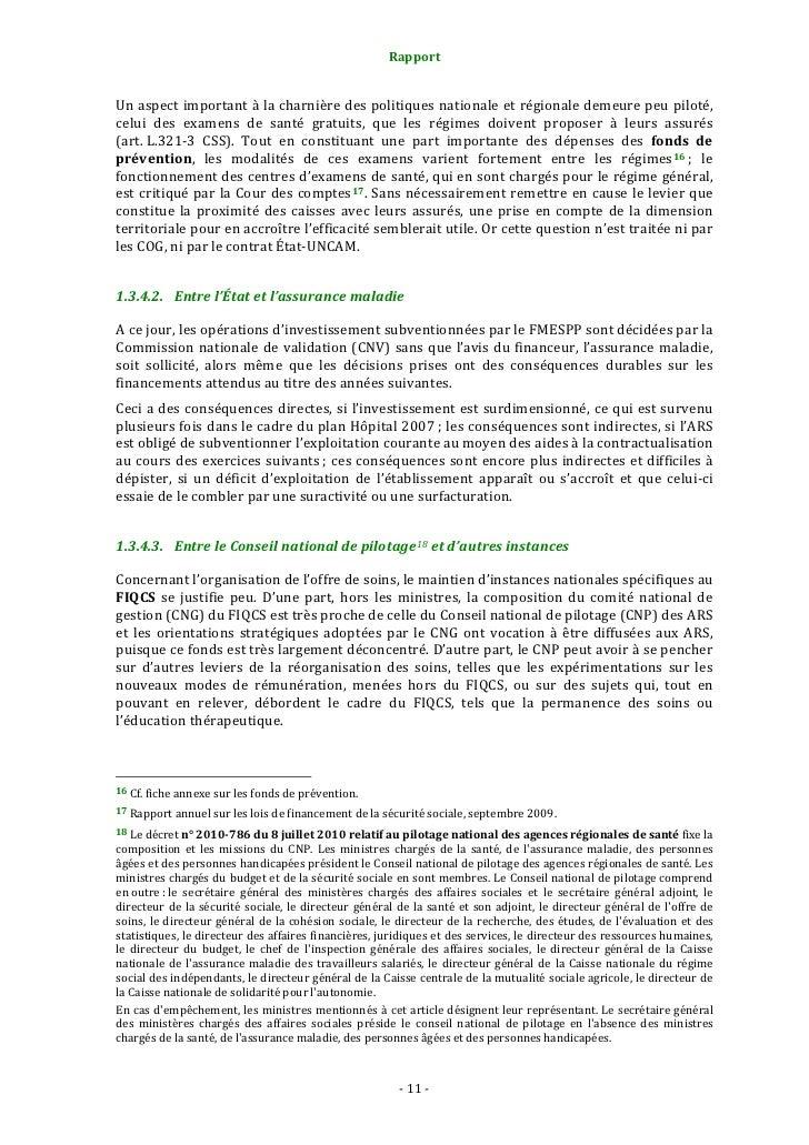 Rapport                                                    2. Propositions: vers un véritable pilotage national e...