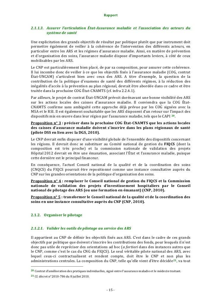 Rapport                                                    2.1.2.3. Valider les programmes nationaux d'expérimentati...