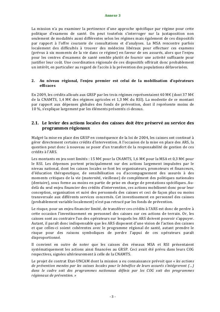 Fonds d'assurance maladie  igf rapport 2010 / http://www.igf.finances.gouv.fr/gcp/pages/