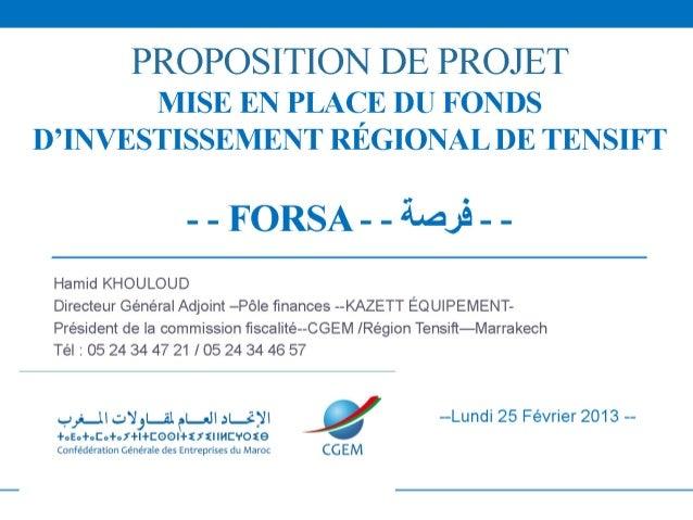 FONDS FORSA MARRAKECH_CGEM-Tensift