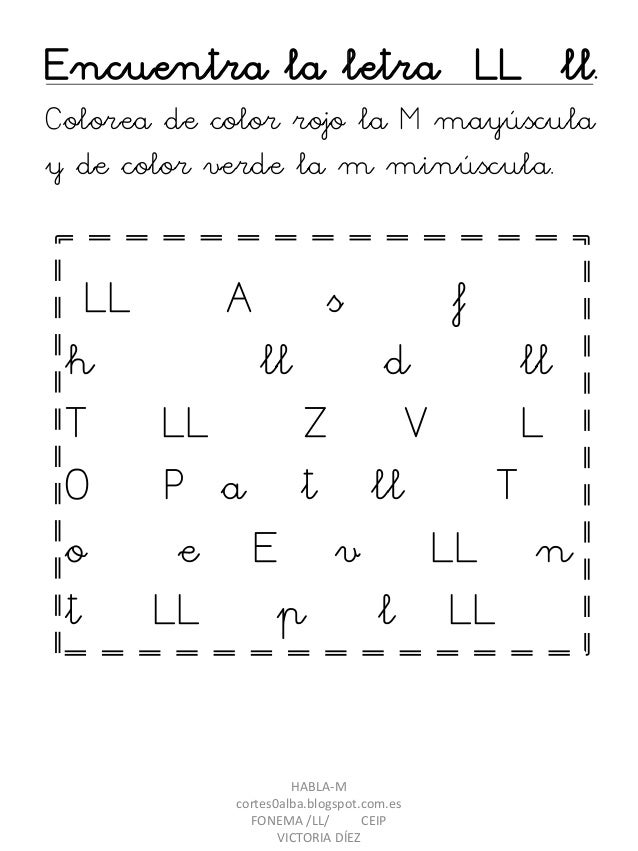Proyecto Habla M Fonema Ll Pdf