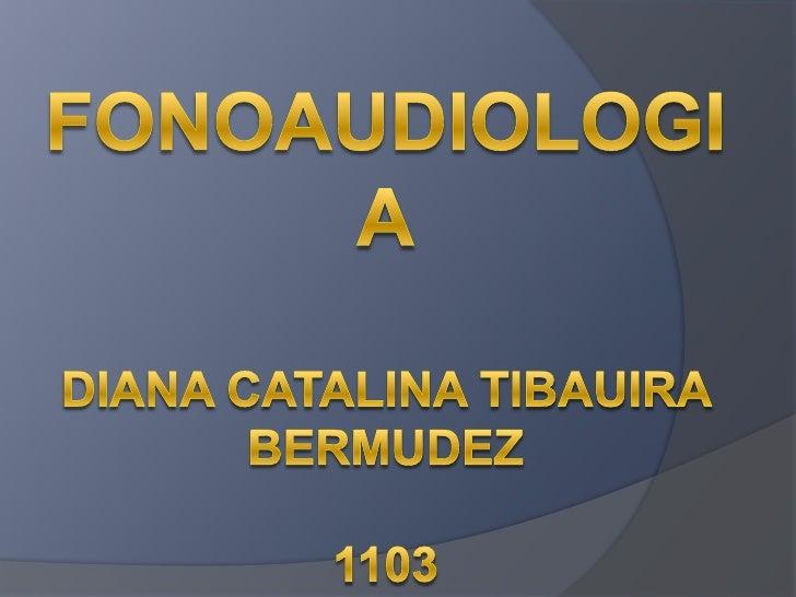 FONOAUDIOLOGIADIANA CATALINA TIBAUIRA BERMUDEZ1103<br />