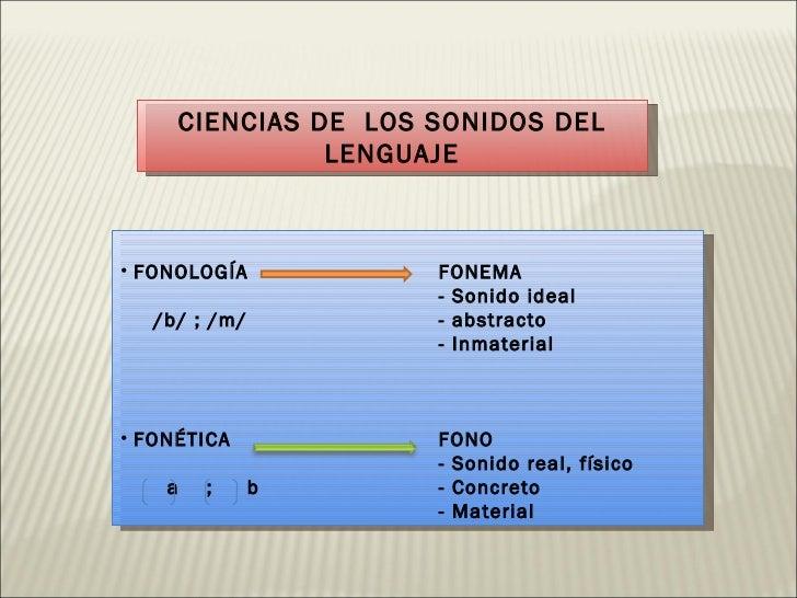Fonología y Fonética Slide 2