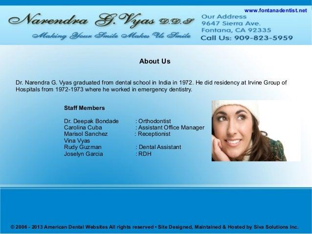 Cosmetic Dentist Fontana   Affordable Dentist Fontana   Cosmetic Dentistry Fontana   Preventive Care Fontana   Dental Implants Fontana Slide 2