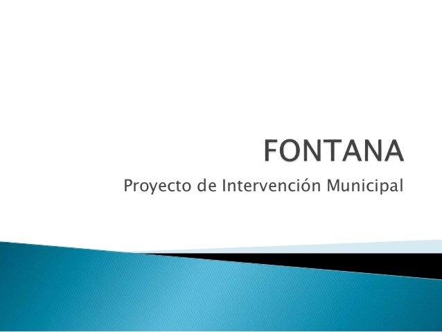 Proyecto de Intervención Municipal