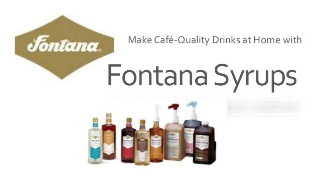 FontanaSyrups Make Café-Quality Drinks at Home with
