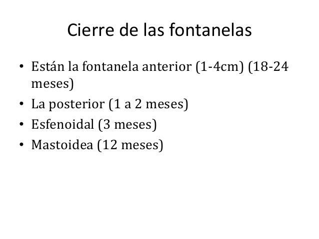 Fontanelas, pc, peso, talla segun edad