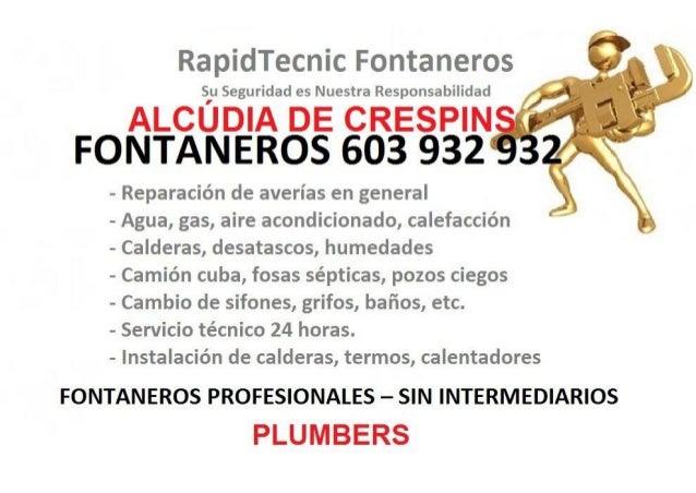 Fontaneros Alcudia de Crespins 603 932 932