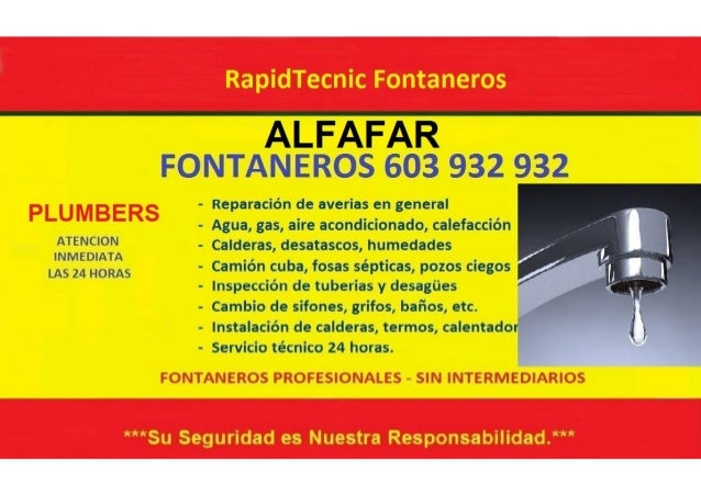 Fontaneros Alfafar 603 932 932