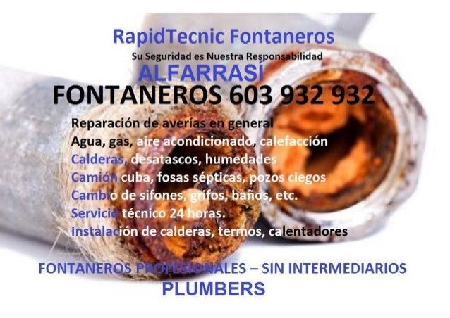 Fontaneros Alfarrasi 603 932 932
