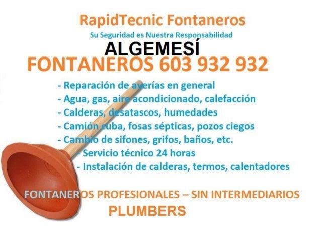 Fontaneros Algemesi 603 932 932