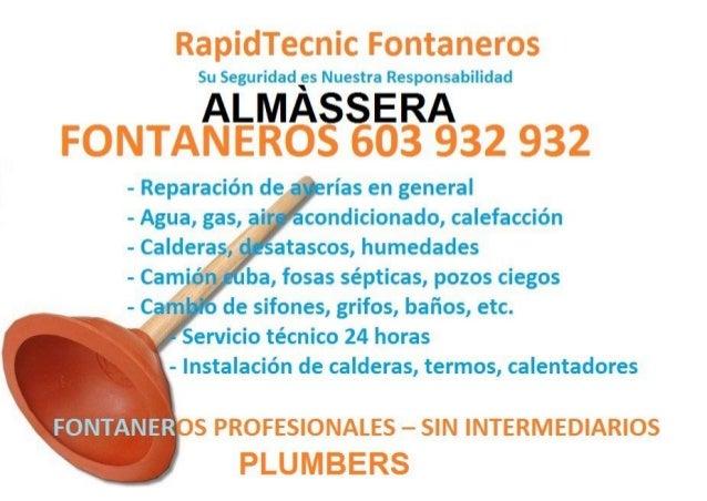 Fontaneros Almassera 603 932 932