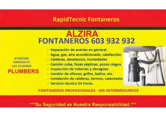 Fontaneros Alzira 603 932 932