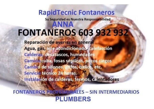 Fontaneros Anna 603 932 932