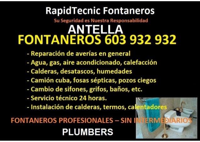 Fontaneros Antella 603 932 932
