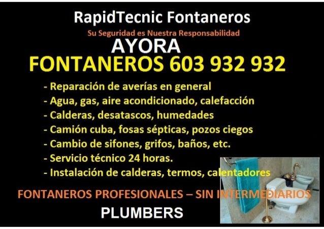 Fontaneros Ayora 603 932 932