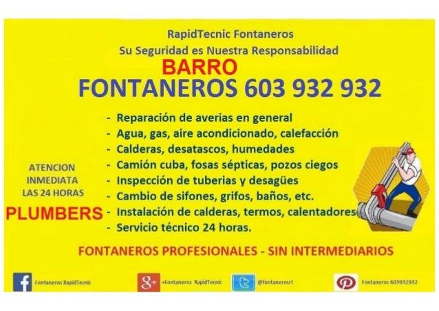 Fontaneros barro 603 932 932