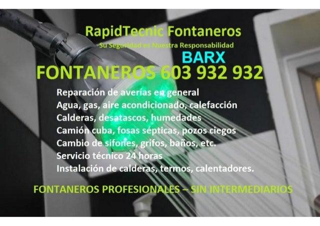 Fontaneros Barx 603 932 932