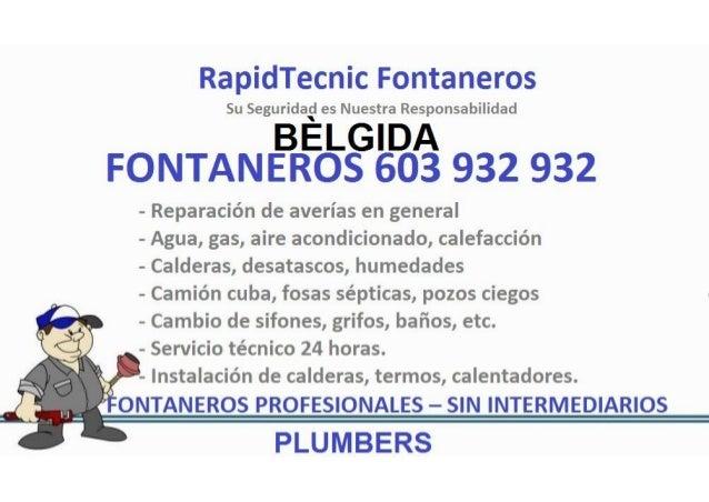 Fontaneros Belgida 603 932 932