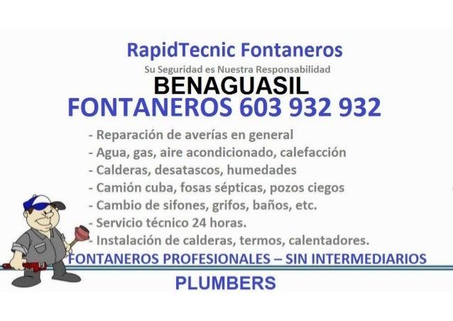 Fontaneros Benaguasil 603 932 932