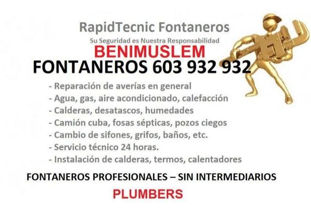 Fontaneros Benimuslem 603 932 932