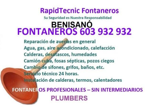 Fontaneros Benisano 603 932 932