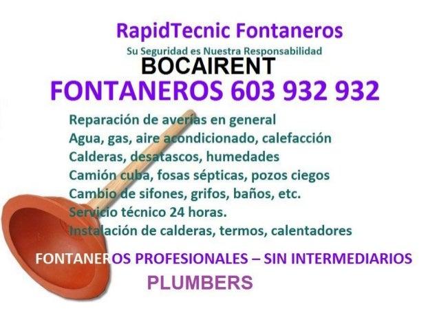 Fontaneros Bocairent 603 932 932