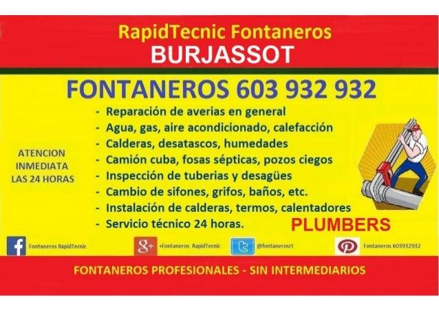 Fontaneros Burjassot 603 932 932