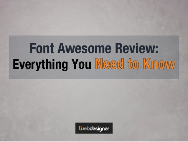 Font Awesome Review: Everything You