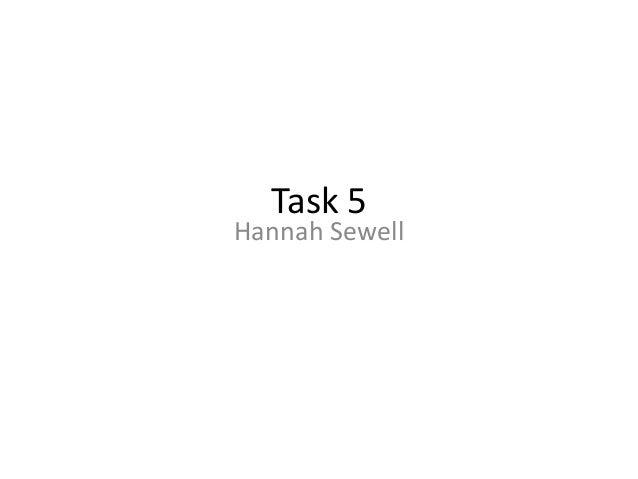 Task 5  Hannah Sewell