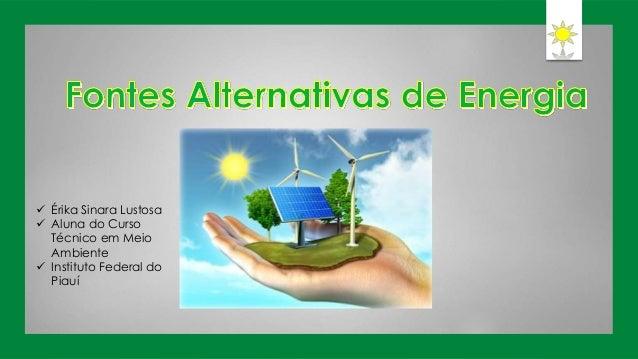  Érika Sinara Lustosa  Aluna do Curso Técnico em Meio Ambiente  Instituto Federal do Piauí