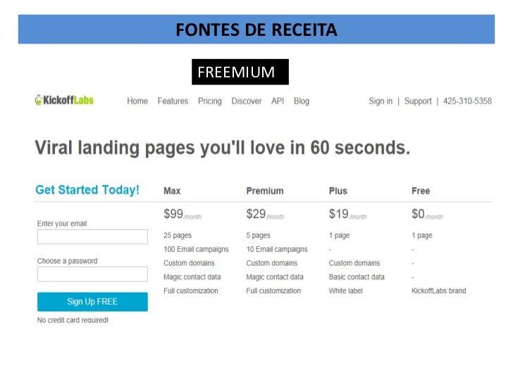 FONTES DE RECEITA  FREEMIUM
