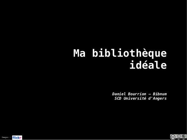 Images : Ma bibliothèque idéale Daniel Bourrion – Bibnum SCD Université d'Angers