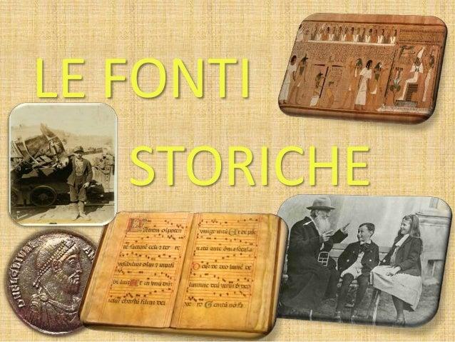 Fonti storiche