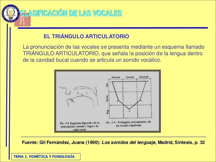 EL TRIÁNGULO ARTICULATORIO     La pronunciación de las vocales se presenta mediante un esquema llamado     TRIÁNGULO ARTIC...